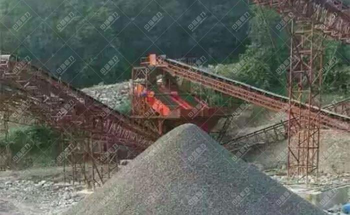 <b>贵州遵义湄潭县时产500吨砂石生产线</b>