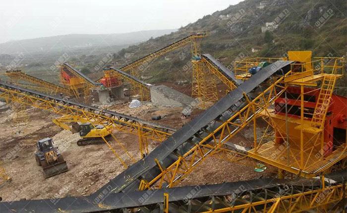 <b>贵州贵阳一建时产1200吨砂石骨料生产线</b>