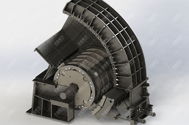 PCZ重型锤式破碎机工作原理