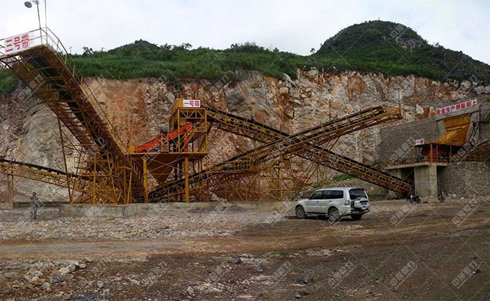 贵州惠水满告时产1000吨砂石生产