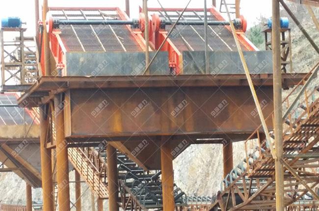 贵州中源建材时产1200吨砂石生产线展示图
