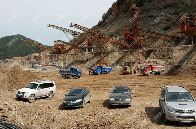贵州中源建材时产1200吨砂石生产线展示图3