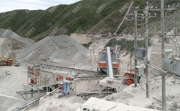 宁夏固原时产800吨石料生产线展示图