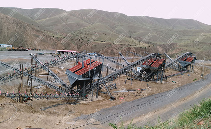 宁夏固原石料厂时产500吨骨料生产线