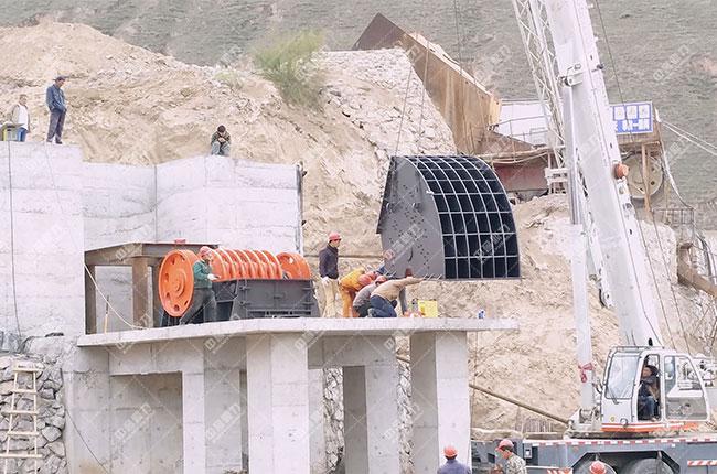 宁夏固原石料厂时产500吨骨料生产线案例展示1