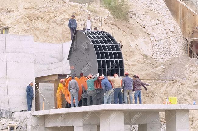 宁夏固原石料厂时产500吨骨料生产线现场案例展示2