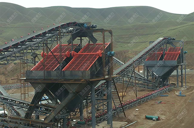 宁夏固原石料厂时产500吨骨料生产线现场案例展示5
