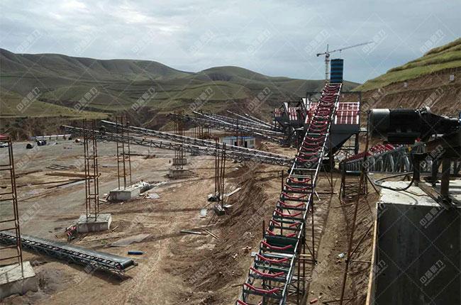 宁夏固原石料厂时产500吨骨料生产线现场案例展示6